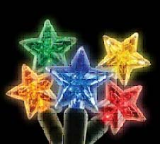 Decorative Holiday Lights Include the Tree Star and Train 1
