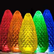 Large C9 Christmas Lights Create Bold Patches of Holiday Color 1